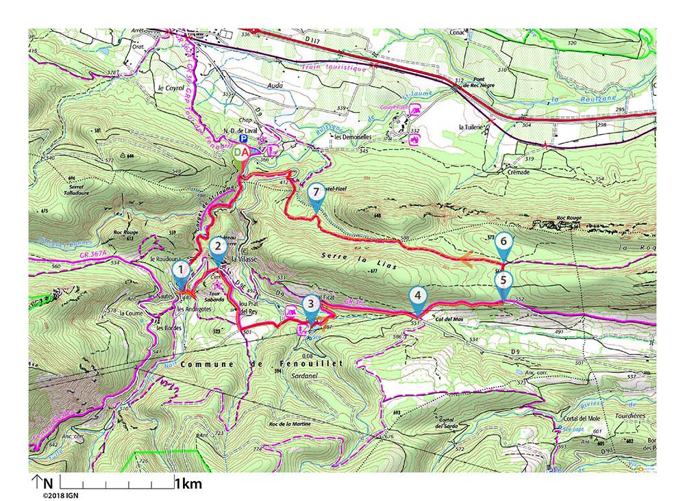 Randonnée Gorges de Saint-Jaume et forteresses de Fenouillet